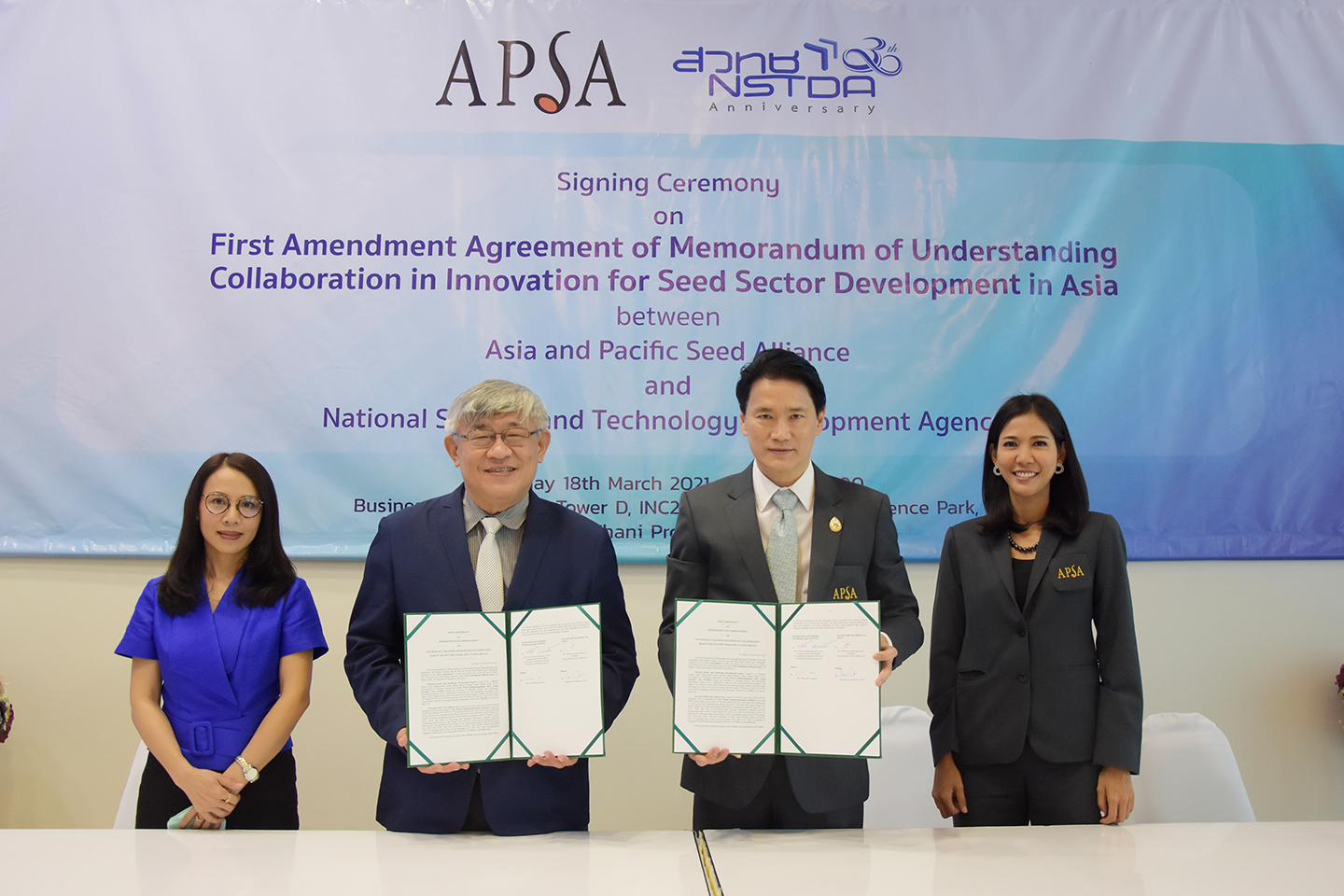 NSTDA and APSA extend MoU to strengthen Asia-Pacific seed sector R&D through 2027